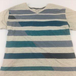Other - Sunday Work Clothes T Shirt V Neck Stripe Medium